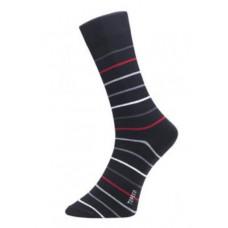 Herrstrumpa Pinstar Black Red Gray
