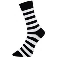 Block Stripe Black White