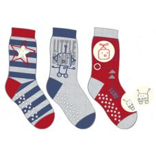 Patterned anti-slip sock 3-pack